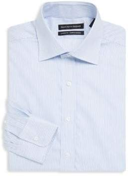 Saks Fifth Avenue BLACK Stripe Cotton Shirt