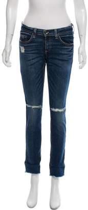 Rag & Bone Distressed Low-Rise Jeans