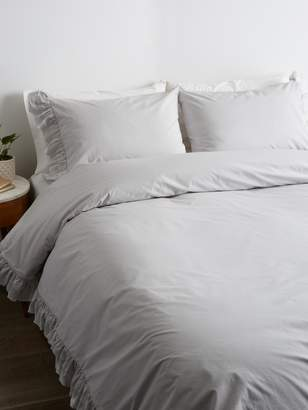 Sewn & Made Voile Raw Double Ruffle Duvet