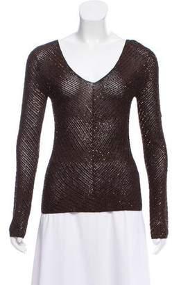 Ralph Lauren Embellished Long Sleeve Top