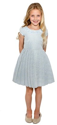 Toddler Girl's Little Angels Floral Brocade Dress $74 thestylecure.com