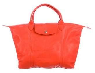 Longchamp Leather Le Pliage Satchel