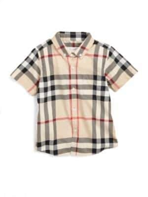 Burberry Little Boy's Check Shirt