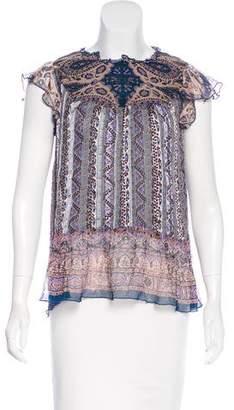 Anna Sui Silk Sleeveless Top