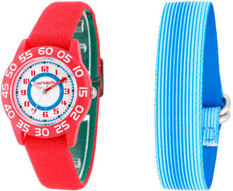 RED BALLOON Red Balloon Boys Blue and Red Interchangeable Bracelet Watch Set