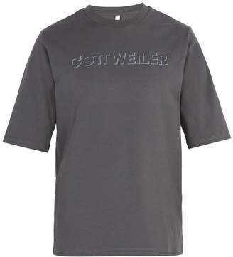 Cottweiler Logo Cotton T Shirt - Mens - Grey
