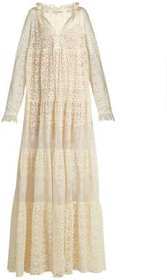 Stella McCartney Deep V-neck lace maxi dress
