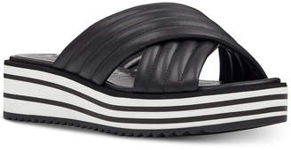 Nine West Flat Zonita Flatform Sandals Women's Shoes