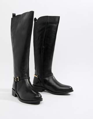 Dune Upton Leather Knee Boots