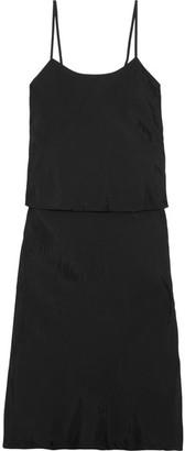 Comme des Garçons Comme des Garçons - Layered Taffeta Midi Dress - Black $410 thestylecure.com