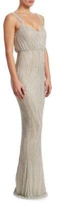 Rachel Gilbert Caeley Embellished Popover Gown