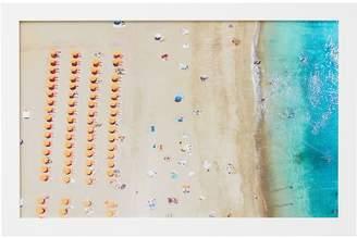 Pottery Barn Teen Birds Eye Beach Scene Framed Art