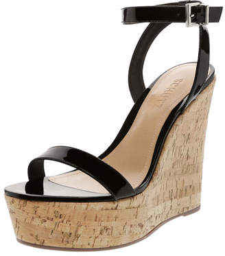 475a96a069f Schutz Eduarda Patent Leather Cork-Wedge Sandals
