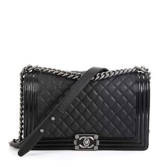 Chanel Boy Black Leather Handbags