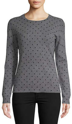 Lord & Taylor Chelsea Dot Cashmere Sweater