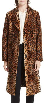 Helene Berman Faux Leopard Fur Coat