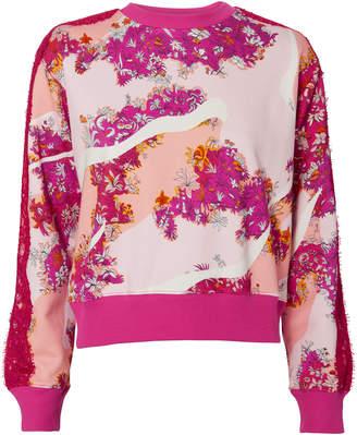 Emilio Pucci Floral Lace Sweatshirt