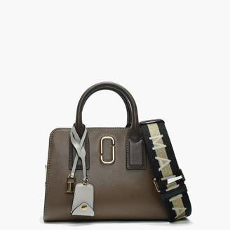 Marc Jacobs Big Shot French Grey Multi Leather Two Tone Tote Bag