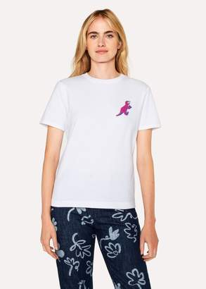 Paul Smith Women's White Small 'Dino' Print Cotton T-Shirt