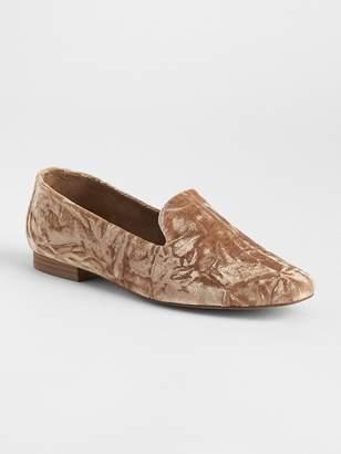 Gap Crushed Velvet Loafers