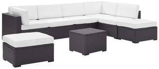 Crosley Biscayne 6-Piece Outdoor Wicker Seating Set