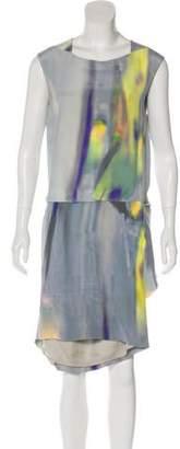 Theyskens' Theory Printed Midi Dress