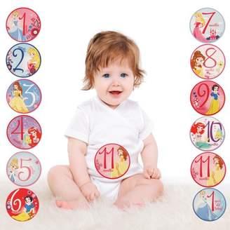 Disney Princess Milestone Photo Prop Belly Stickers, Baby Girls, Age 0-12M