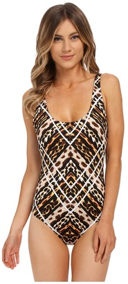 Jantzen Animale Tank Top One-Piece with Strapping $116 thestylecure.com