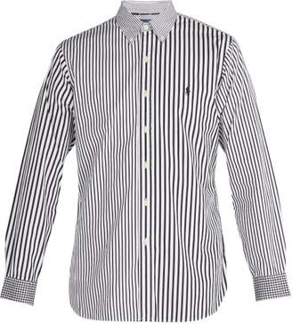 Polo Ralph Lauren Stripe And Gingham Print Cotton Shirt - Mens - Black Multi