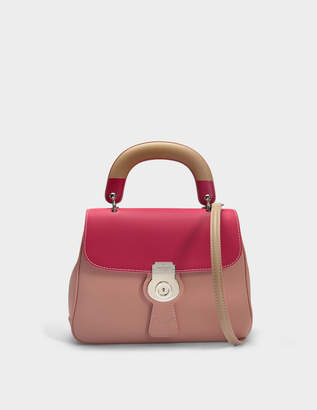 Burberry Medium DK88 Top Handle Bag in Ash Rose Embossed Calfskin