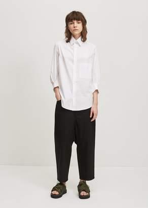 Y's Cotton Button Down Shirt White