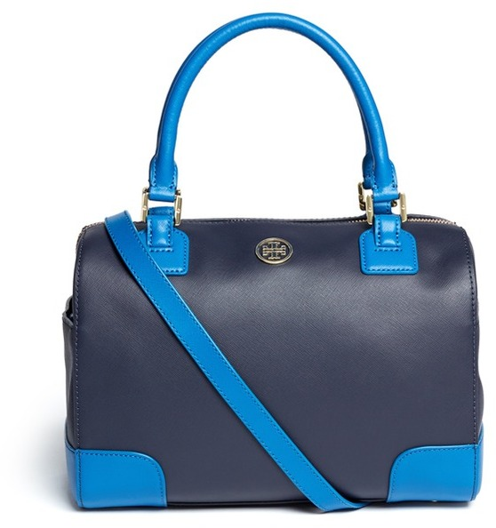 Robinson colour-block middy satchel