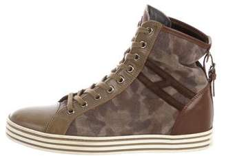 Hogan Camouflage High-Top Sneakers