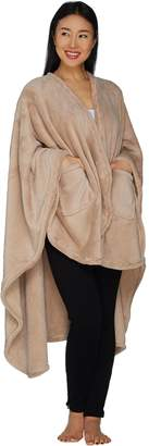 Berkshire Blanket Primalush Plush Shoulder Wrap with Pockets by Berkshire