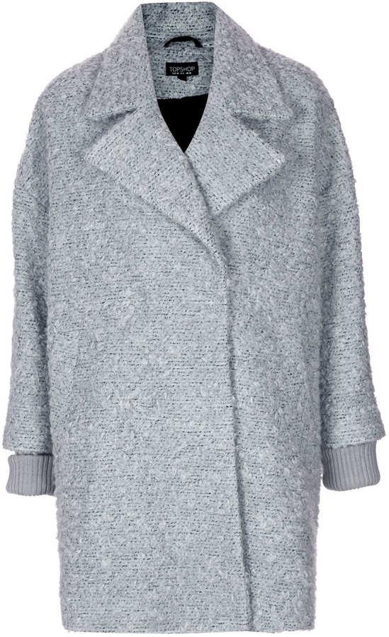 Topshop Slouchy Mohair Boyfriend Coat