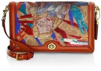Coach Disney x Embellished Alice In Wonderland Crossbody Bag