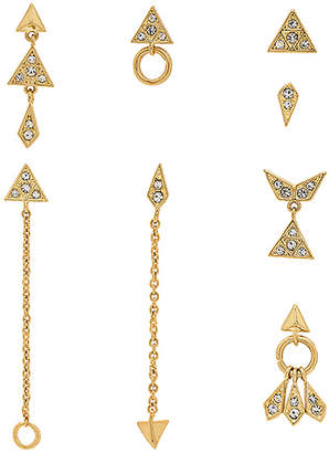 Luv Aj The Pave Kite Mixed Earring Set
