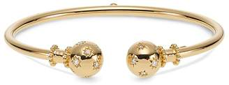 Temple St. Clair 18K Yellow Gold Cosmos Bellina Bangle with Diamonds