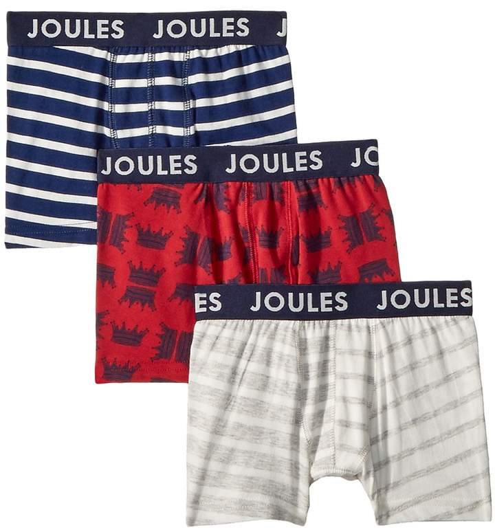 Joules Kids 3-Pack Of Boxers Boy's Underwear