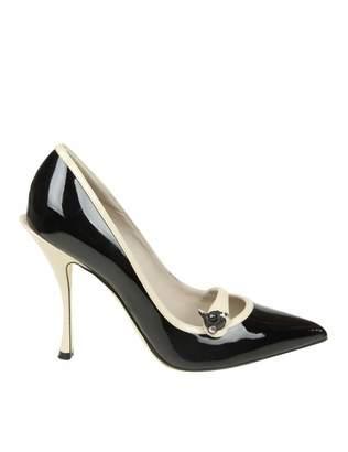 Dolce & Gabbana Décolleté Lori In Black Leather Shiny