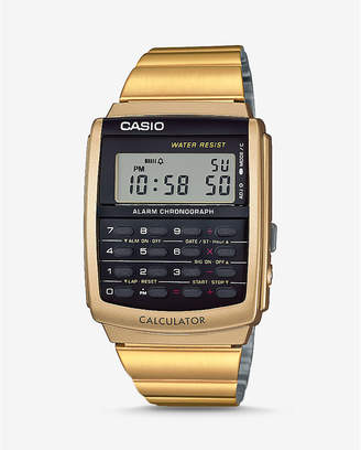 Express Vintage Casio Gold Calculator Watch