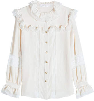 Philosophy di Lorenzo Serafini Blouse with Lace Trims
