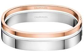 Calvin Klein Hook Ss And Polished Rose Gold Pvd Bangle