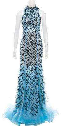 Terani Couture Sleeveless Embellished Evening Gown w/ Tags