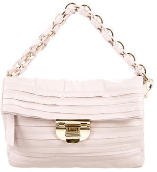 Nina RicciNina Ricci Ruffle Leather Handle Bag