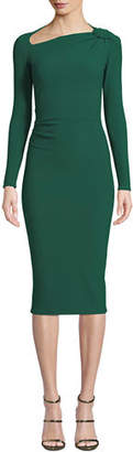 Chiara Boni Hena Asymmetric-Neck Body-Con Dress