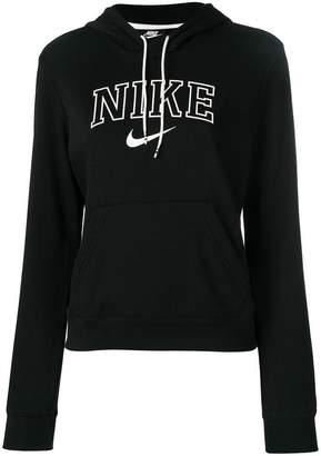 Nike black logo hoodie