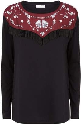 Sandro Tassel Trim T-Shirt