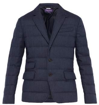 Ralph Lauren Purple Label Windheim Single Breasted Quilted Coat - Mens - Navy