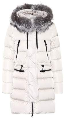 Moncler Aphrotiti fur-trimmed down coat